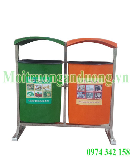 Dán decal lên thùng rác công cộng để nâng cao hiệu quả sử dụng