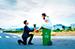 Chụp ảnh cưới với thùng rác tại Vũng Tàu